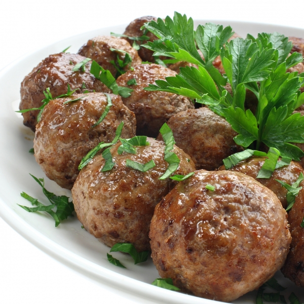 Large variety of IQF Meatballs and Minced Meat.
