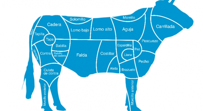 Find out where the cuts of the cow come from